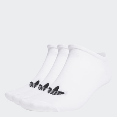 Originals White Trefoil Liner Socks 3 Pairs