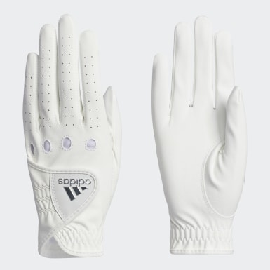 Women Golf White L-C Gloves