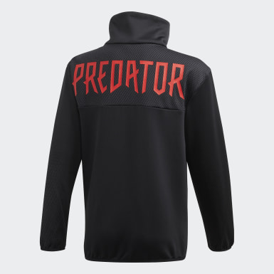 Jungen Training Predator Trainingsjacke Schwarz