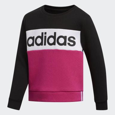 Pieced Crew Pullover Sweatshirt