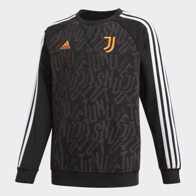 Blusa Moletom Juventus Preto Meninos Futebol