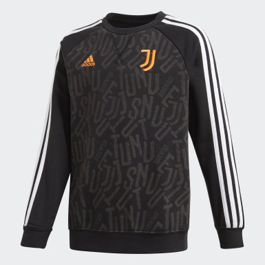 Youth Soccer Black Juventus Crew Sweatshirt
