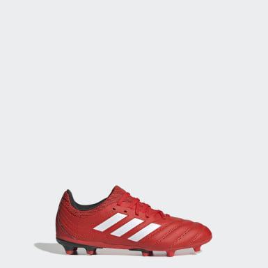 Calzado de fútbol Copa 20.3 Terreno Firme Rojo Niño Fútbol