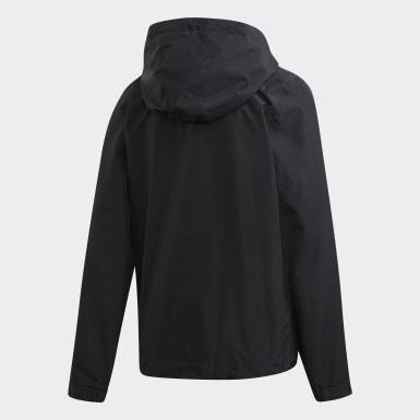 Women Urban Outdoor Black Climaproof Rain Jacket