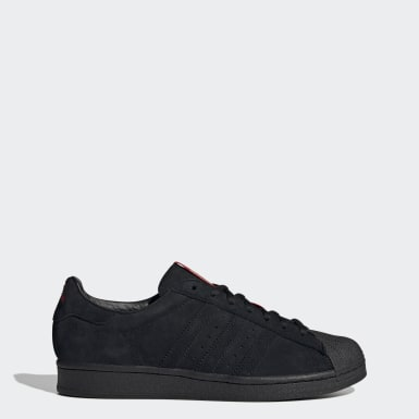 Men's Originals Black Superstar ADV x Thrasher Shoes