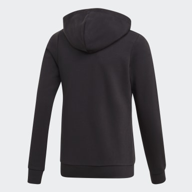 Girls Athletics Svart Linear Hoodie