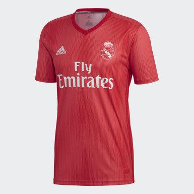 Camiseta Tercer Uniforme Real Madrid Réplica Rojo Hombre Fútbol