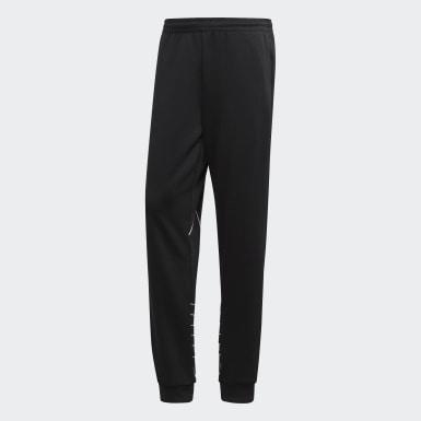 ผู้ชาย Originals สีดำ กางเกงแทรค Big Trefoil Outline