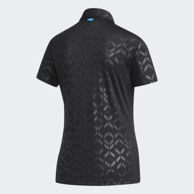 Women Golf Black Polo Shirt