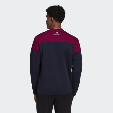 Men's Athletics Blue adidas Z.N.E. Crew Sweatshirt
