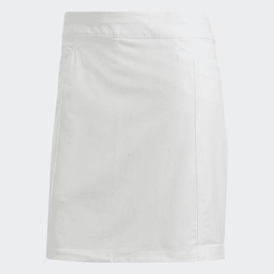 Women Golf White Ultimate365 Adistar Solid Skort