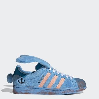 Men Originals Blue Superstar Shoes