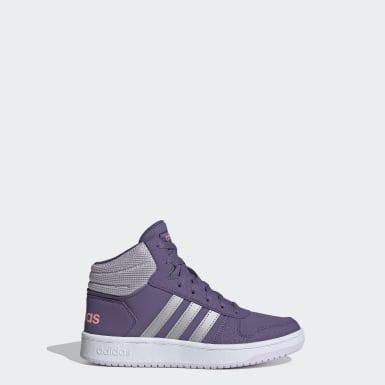 фиолетовый Баскетбольные кроссовки Hoops 2.0 Mid