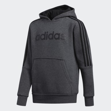 Boys Lifestyle Grey 3-Stripes Hoodie