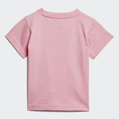 Camiseta Linear Rosa Niño Athletics