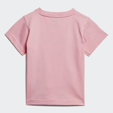 Kids Athletics Pink Linear Tee
