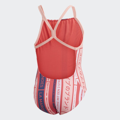 Dievčatá Plávanie ružová Plavky Graphic