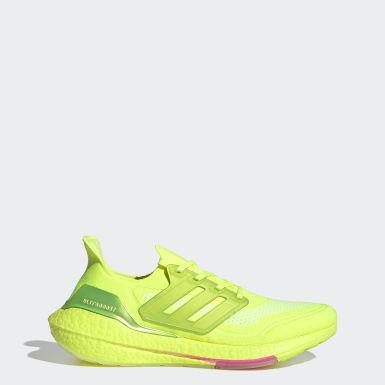 Sapatos Ultraboost 21 Amarelo Homem Running