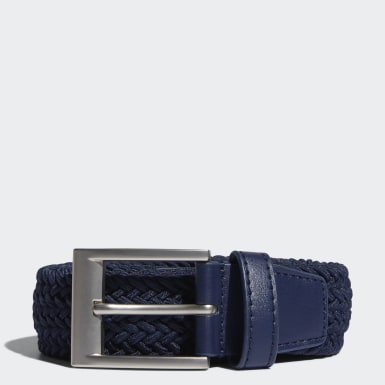 Men's Golf Blue Braided Stretch Belt