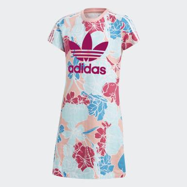 розовый Платье-футболка