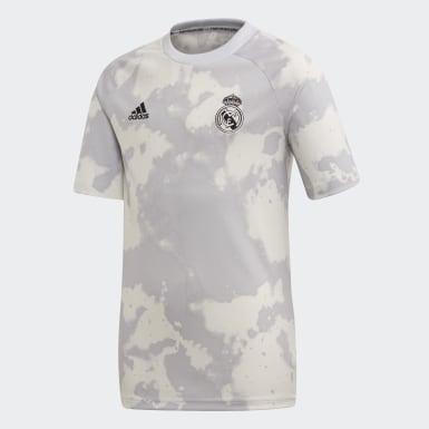Jongens Voetbal Grijs Real Madrid Pre-Match Voetbalshirt