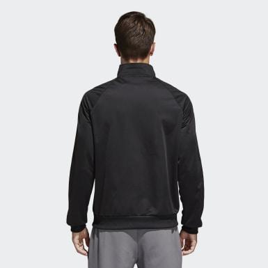 Muži Tréning čierna Tepláková bunda Essentials