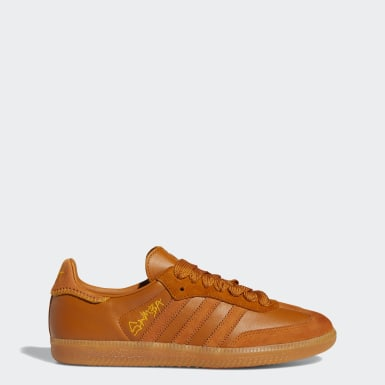Men Originals Brown Jonah Hill Samba Shoes