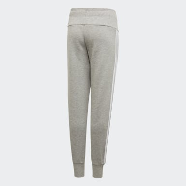 Kids Training Grey Must Haves 3-Stripes Tracksuit Bottoms