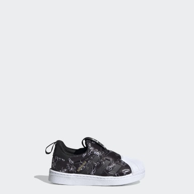 Infants Originals Black Superstar 360 Shoes