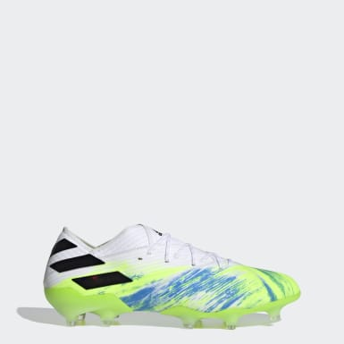 Football White Nemeziz 19.1 Firm Ground Boots