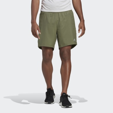 Men Running Green Run It 3-Stripes Shorts