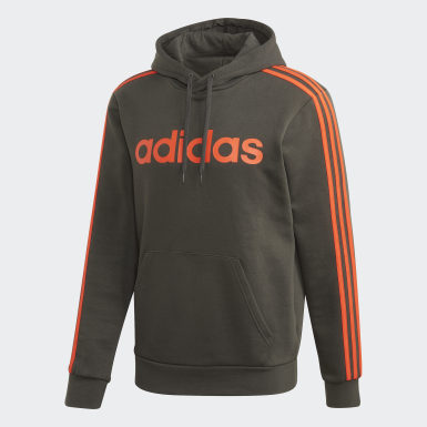 Essentials 3-Stripes Pullover Hoodie