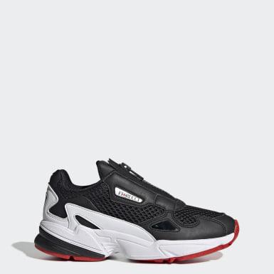 Women Originals Black Falcon Zip Shoes