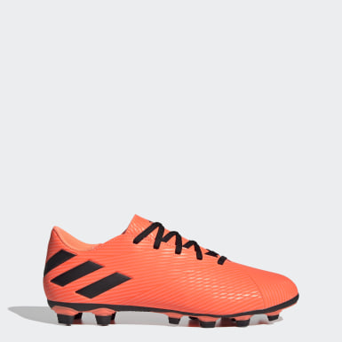 Men Soccer Orange Nemeziz 19.4 Flexible Ground Cleats