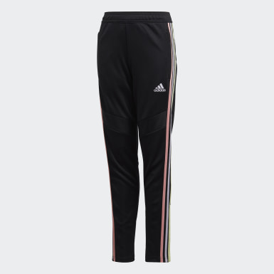 Kids 4-8 Years Training Black Girls' Tiro 19 Tracksuit Bottoms
