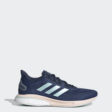 Women Running Blue Supernova Shoes