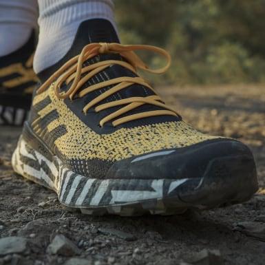 ผู้หญิง TERREX สีทอง รองเท้าวิ่งเทรล Terrex Two Ultra Parley