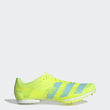 Track & Field Yellow Adizero Middle Distance Spikes