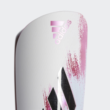 Football White X 20 League Shin Guards