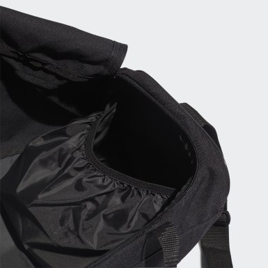 Lifestyle Black Linear Logo Duffel Bag