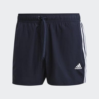 Men Swimming Blue Classic 3-Stripes Swim Shorts