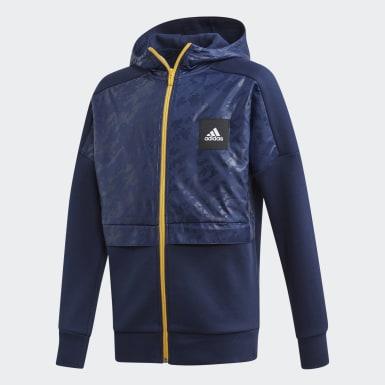 Boys Træning Blå Sport ID hættetrøje