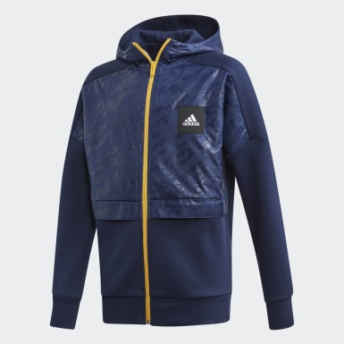 Jungen Training YB ID COVER UP Blau