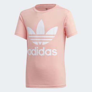 Camiseta Trefoil Rosa Kids Originals
