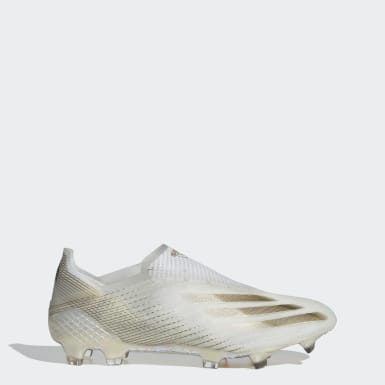 Bota de fútbol X Ghosted+ césped natural seco Blanco Fútbol
