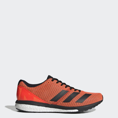 Men Running Orange Adizero Boston 8 Shoes