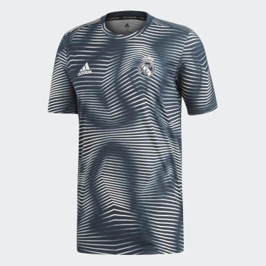 Maillot d'échauffement Real Madrid Gris Hommes Football