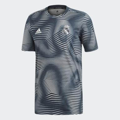Männer Fußball Real Madrid Pre-Match Shirt Grau