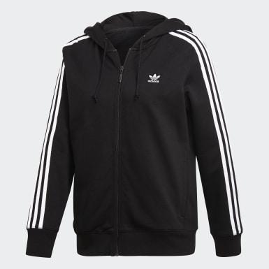 Dames Originals Zwart 3-Stripes Hoodie