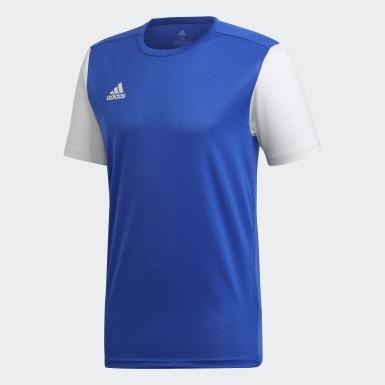 ผู้ชาย ฟุตบอล สีน้ำเงิน เสื้อฟุตบอล Estro 19